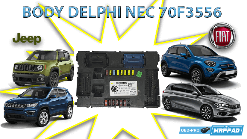 MRPPad v 3.14 BODY COMPUTER DELPHI 70F3556 FIAT 500X/TIPO JEEP RENEGADE/COMPASS