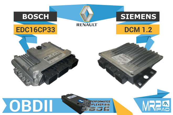 MRPPad version 1.69 Renault group Bosch EDC16 Delphi EC1.2