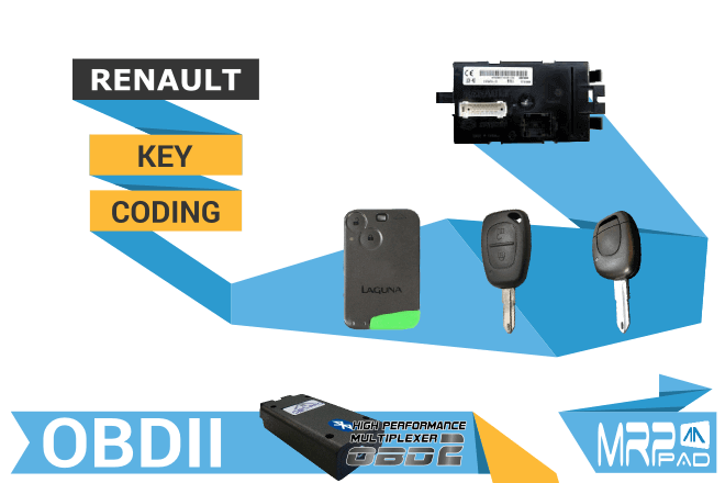 MRPPad version 1.74 Renault key coding OBDII
