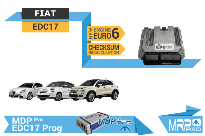 MRPPad version 1.77 EDC17 ECUs Fiat group checksum recalculation
